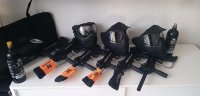 6 complete paintball sets : euro